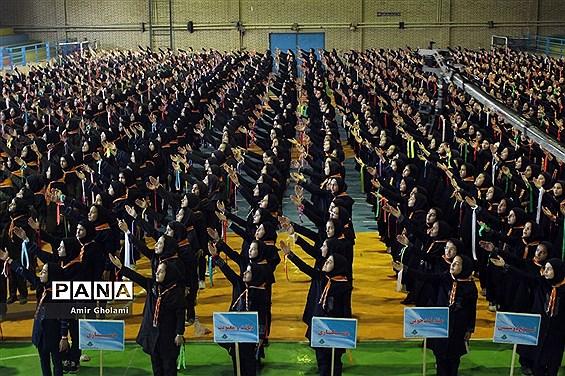 مانور تشکیلاتی 1200 نفره گام دوم انقلاب سازمان دانشآموزی  شهرستانهای تهران در پاکدشت