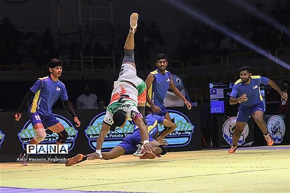 برگزاری بازی ایران و مالزی از مسابقات کبدی قهرمانی جوانان جهان