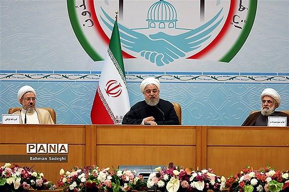 افتتاح کنفرانس بینالمللی وحدت اسلامی با حضور رئیسجمهوری