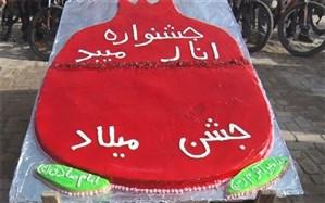 میبدی ها در روزمیلاد پیامبر(ص) کیک انار پختند