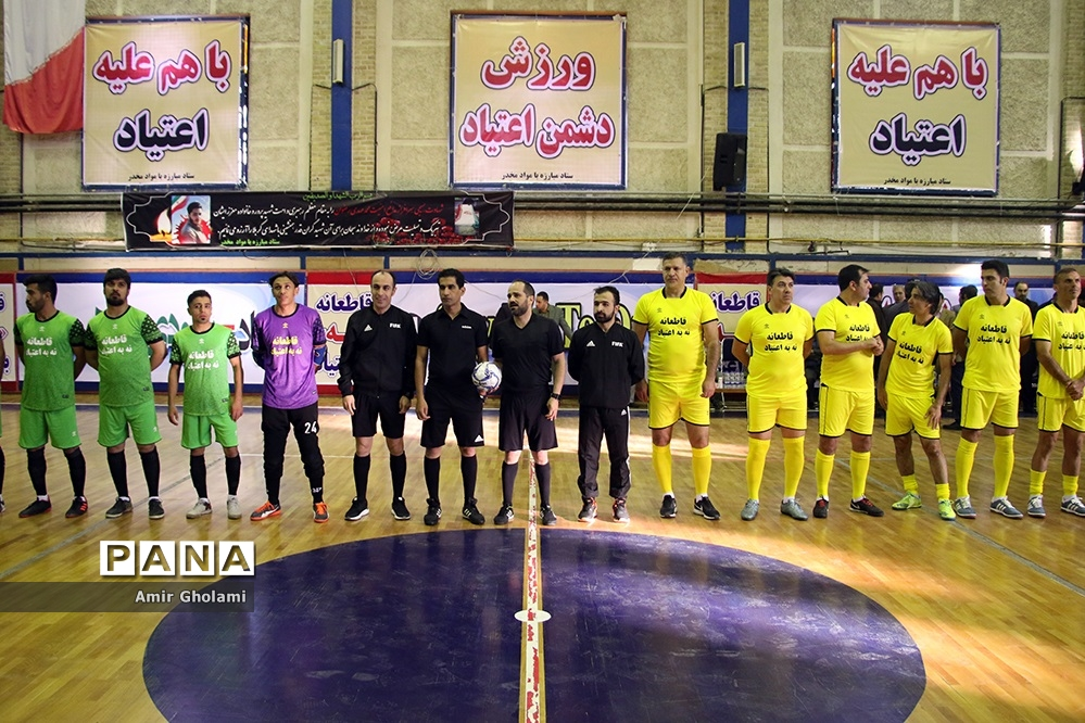دیدار تیم منتخب قهرمانان ملی فوتبال با متخب تیمهای محله هرندی