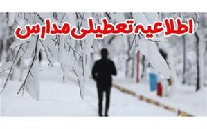 تعطیلی مدارس برخی از مناطق و نواحی استان زنجان