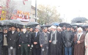 حضور مسئولین آموزش و پرورش و دانش آموزان زنجانی در راهپیمایی وحدت ملی