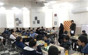 مسابقات شطرنج پسران مدارس ناحیه یک برگزار شد