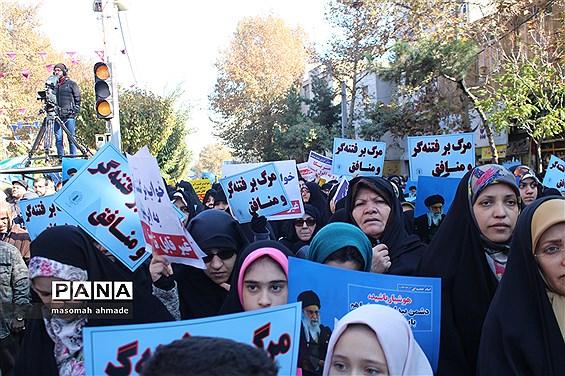 راهپیمایی مردمی در اقتدار و امنیت ملی در استان البرز