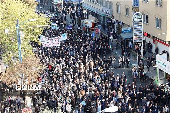 راهپیمایی مردمی اعلام انزجار مردم  ارومیه  از آشوبگران