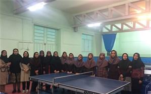 مسابقات تنیس روی میز مدارس دخترانه ناحیه یک برگزار شد