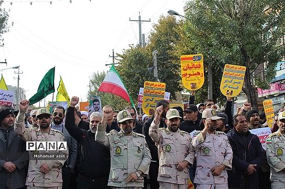 راهپیمایی مردم کرمانشاه علیه اغتشاشگران