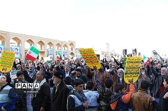 راهپیمایی حمایت از اقتدار و امنیت در یزد