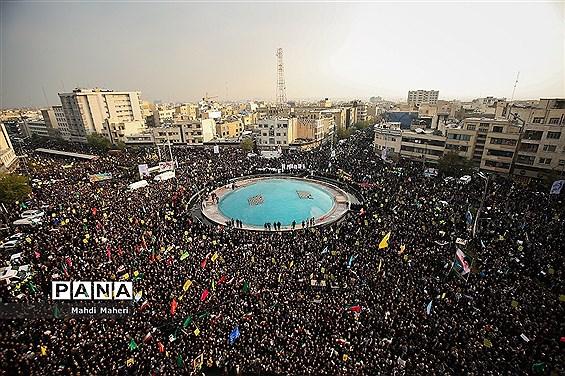 اجتماع مردم تهران در پی اعتراض به حوادث اخیر