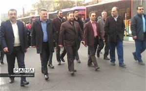 حضور آموزش و پرورش منطقه19 در راهپیمایی محکومیت اقدامات آشوبگران