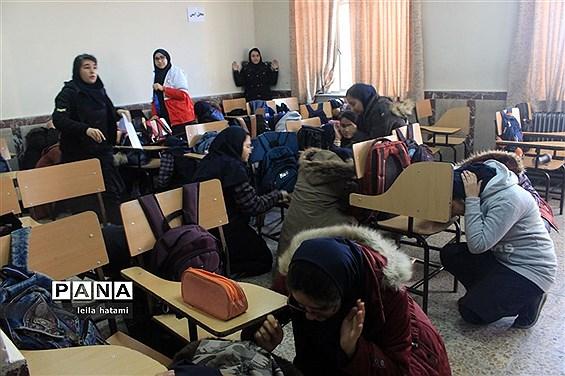 اجرای پیش مانور زلزله و ایمنی در تبریز