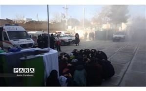 برگزاری مانور زلزله در مدارس درگز
