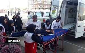 بیست ویکمین مانورسراری زلزله در مدارس آبادان  اجرا  شد