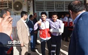 مانور زلزله در مدارس شهرستان لالی برگزار شد