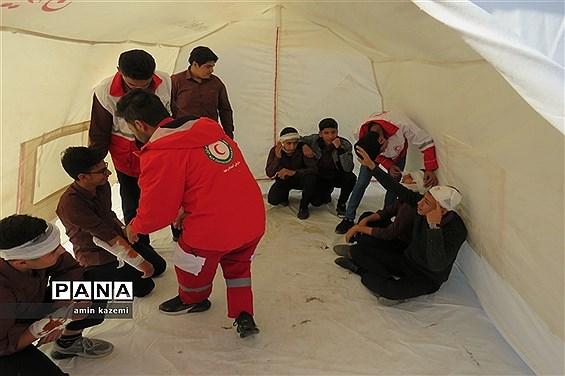 بیست و یکمین مانور سراسری زلزله و ایمنی مدارس در داراب