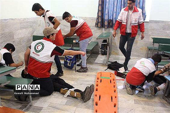 بیست و یکمین مانور سراسری زلزله و ایمنی در دبیرستان سید مرتضی محلات