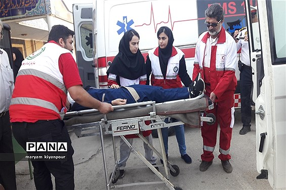 بیست و یکمین مانور سراسری زلزله درمسجدسلیمان