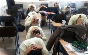 برگزاری مانور زلزله در دبیرستان شهید بهشتی کاشمر
