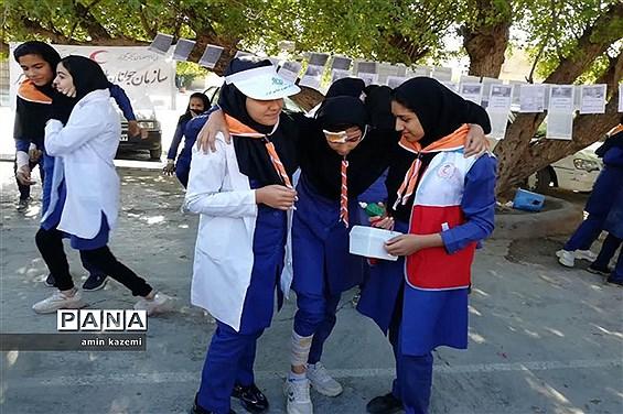 برگزاری مانور زلزله در داراب
