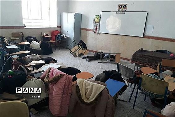 مانور زلزله در دبیرستان فاطمیه زارچ