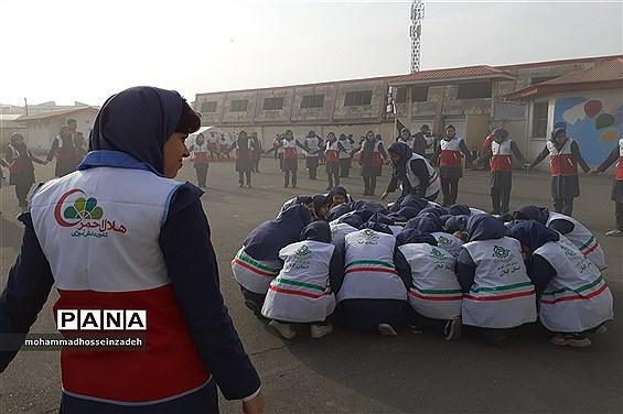 برگزاری مانور سراسری زلزله و ایمنی در مدارس گیلان