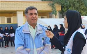 بیست و یکمین مانورسراسری زلزله با شعار مدرسه ایمن- جامعه تاب آوردر بوشهر برگزار شد