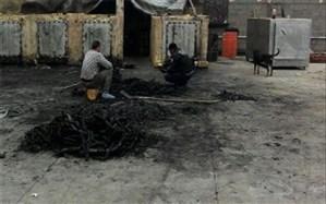 کشف کوره غیر مجاز ذغال در یزد