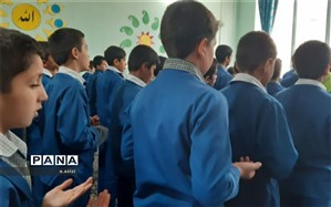 نخستین صبحگاه رضوی در مدارس زارچ برگزار شد