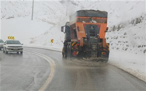 بارش برف و باران در محورهای مواصلاتی ۱۷ استان