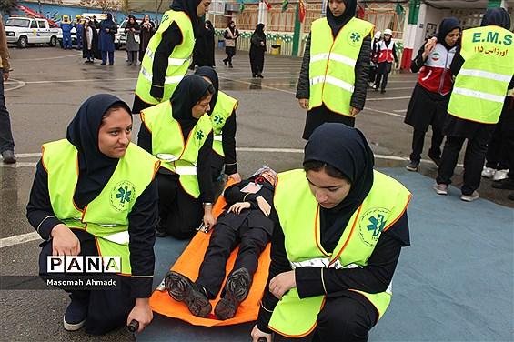 مراسم متمرکز استانی بیست و یکمین مانور زلزله و ایمنی در مدارس