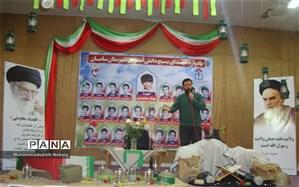 یاد و خاطره  شهدای بسیج دانش آموزی بار دیگر در  شهرستان سامان زنده شد