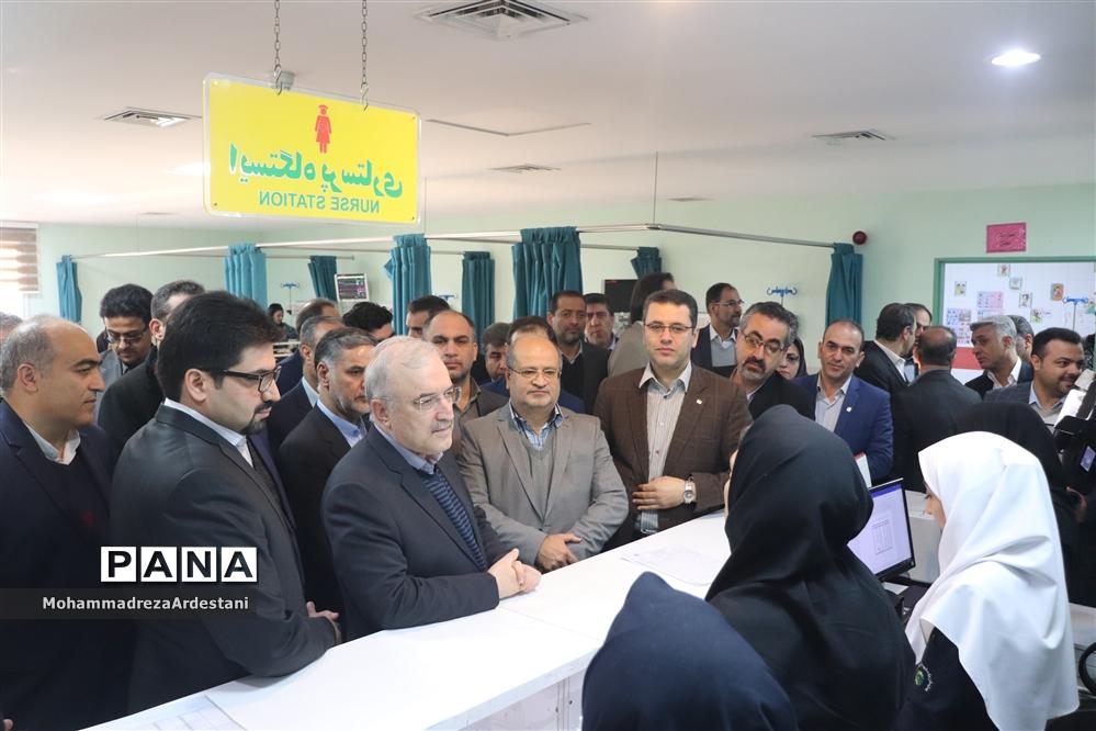 بازدید وزیر بهداشت ، درمان و آموزش پزشکی از مراکز درمانی شهرستانهای جنوب استان تهران