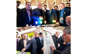 بازدید محسن هاشمی رفسنجانی و یزدانی از نمایشگاه بینالمللی شهرآفتاب