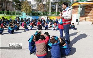 کارگاه آموزشی امداد و نجات دانش آموزان دبستان علامه حلی 1 دوره اول