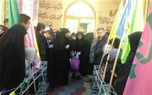 اعزام 310 دانش آموز دختر مدارس آموزش و پرورش ناحیه یک زنجان به اردوی راهیان نور