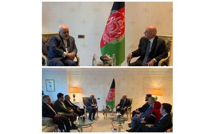 دیدار ظریف با رئیس جمهور افغانستان