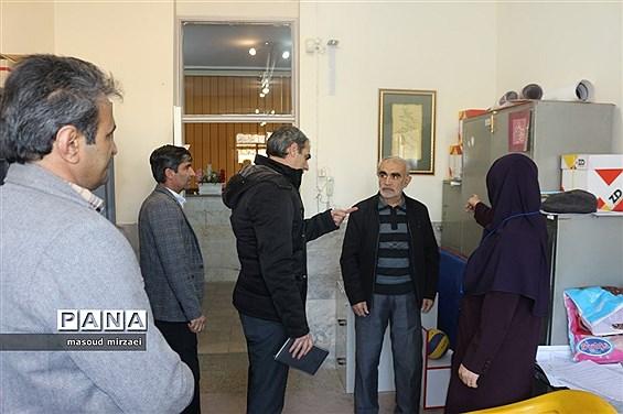 بازدید از ایمن سازی غیرسازه ای مدارس صدرا و نرگس شاهد قزوین