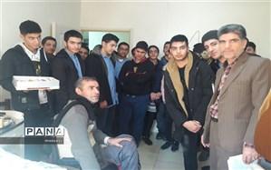 عیادت دانش آموزان دبیرستان پسرانه شهید باهنر ازجانبازان قطع نخاعی