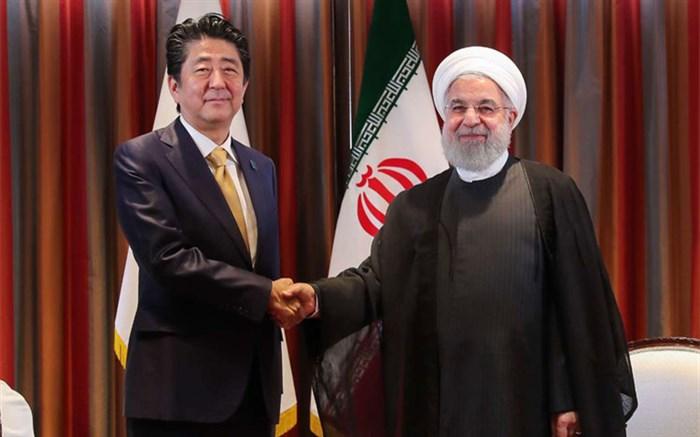 روحانی و شینزو آبه نخست وزیر ژاپن