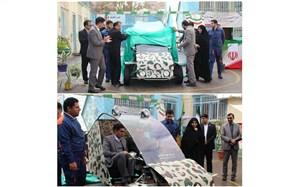"""رونمایی از خودروی باگی ساخته شده توسط هنرآموزان هنرستان پسرانه """"شهید دکتر قندی"""" آموزش و پرورش ناحیه سه مشهد"""