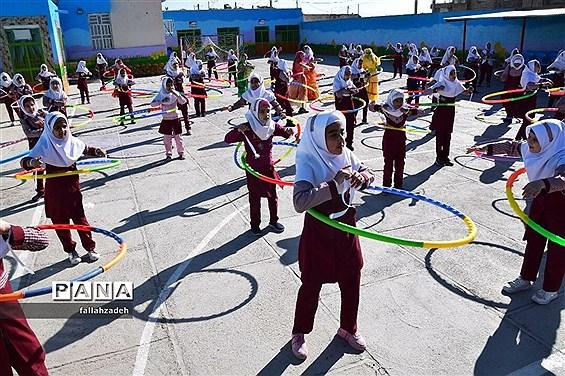 برگزاری المپیاد ورزشی درآموزشگاه فاطمیه ابرکوه