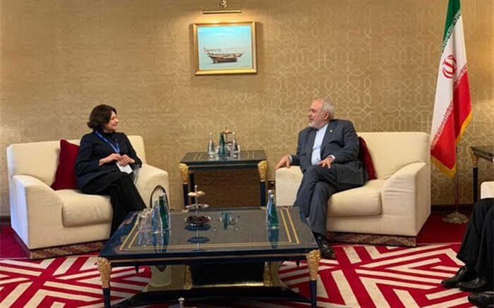 دیدار ظریف با معاون دبیرکل سازمان ملل متحد در امور سیاسی و صلح