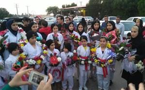 کسب۲۱ مدال رنگین توسط بانوان کاراته کار شهرستان امیدیه در مسابقات کشوری