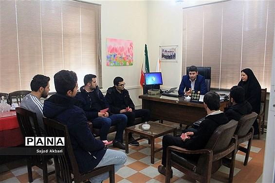 بازدید دانشجو معلمان دانشگاه فرهنگیان آذربایجان شرقی از سازمان دانش آموزی استان