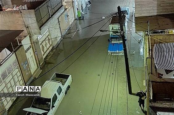 بارش شدید باران و آبگرفتی شهرها در خوزستان