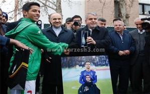 تقدیر از مهدی قائدی ملی پوش بوشهری در حضور وزیر ورزش