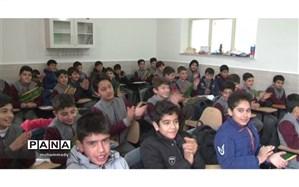 تجهیز و نوسازی مدرسه ابتدایی جامی شهرستان سرعین از سوی خیر جوان