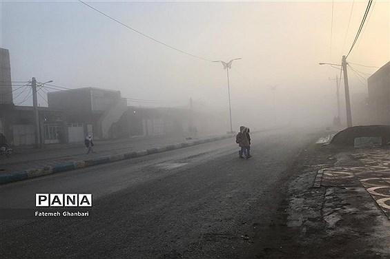 مه گرفتگی در شهرستان کارون