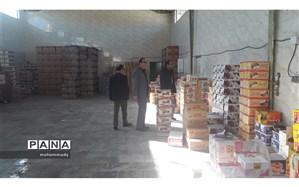 بازدید مدیر سازمان دانش آموزی اردبیل از انبارهای شرکت طرف قرارداد توزیع تغذیه سالم